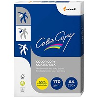 Color Copy A4 Silk Coated Double Sided Colour Laser Paper White, 170gsm, 250 Sheets