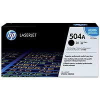 HP 504A Black Laser Toner Cartridge