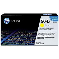 HP 504A Yellow Laser Toner Cartridge