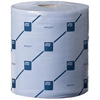 Tork Reflex Wiper Rolls / 2-Ply / Blue / 6 Rolls of 429 Sheets