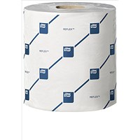 Tork Reflex Wiper Rolls, 2-Ply, White, 6 Rolls of 429 Sheets