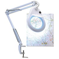Unilux Magnifier Lamp, 3 Diopters, H1000mm, 22W, G10Q, White