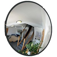 Indoor Security Mirror Durable Polycarbonate Steel Mounting Plates 450mm