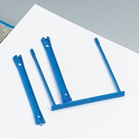 5 Star Filing Clip, Polypropylene, Blue, Pack of 10