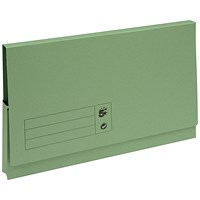 5 Star Document Wallets Full Flap, 285gsm, Foolscap, Green, Pack of 50