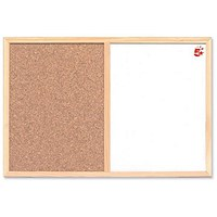 5 Star Combination Noticeboard, Cork & Drywipe, W600xH400mm