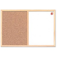 5 Star Combination Noticeboard, Cork & Drywipe, W900xH600mm