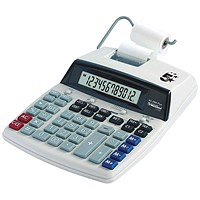 5 Star Calculator Desktop Printing, 12 Digit, Grey