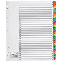 5 Star Maxi Index Dividers, Extra Wide, 1-31, Multicoloured Mylar Tabs, A4, White