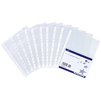 5 Star A4 Expanding Punched Pockets, Top Flap, Pack of 10