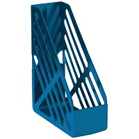 5 Star Magazine Rack, Foolscap, Blue