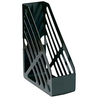 5 Star Magazine Rack, Foolscap, Black