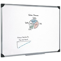 5 Star Magnetic Whiteboard, Aluminium Frame, W1800xH1200mm