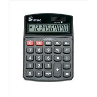 5 Star Desktop Calculator, 10 Digit, 3 Key, Battery/Solar Power, Black