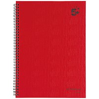 5 Star Wirebound Notebook, A4, Ruled, 160 Pages, Pack of 5