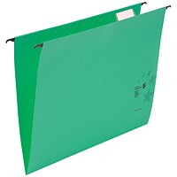 5 Star Premium Suspension Files / V Base / 15mm Capacity / Foolscap / Green / Pack of 50