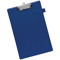 5 Star Clipboard with PVC Cover / Foolscap / Blue