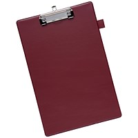 5 Star Clipboard with PVC Cover, Foolscap, Dark Red