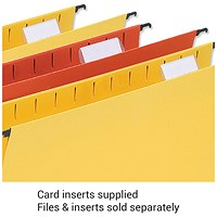5 Star Wrapover Suspension File Card Inserts, White, Pack of 50