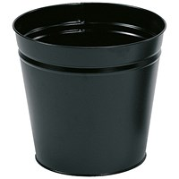 5 Star Round Waste Bin, Metal, Scratch Resistant, D300xH280mm, 15 Litres, Black