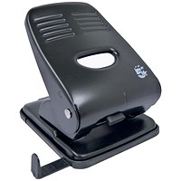 5 Star 2-Hole Punch, Black, Punch capacity: 40 Sheets