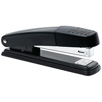 5 Star Full Strip Stapler - Metal, 20 Sheet Capacity, Black