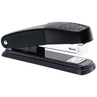 5 Star Half Strip Stapler - Metal, 20 Sheet Capacity, Black