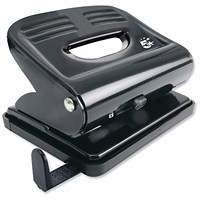5 Star 2-Hole Punch, Black, Punch capacity: 18 Sheets