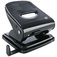 5 Star 2-Hole Punch, Black, Punch capacity: 30 Sheets