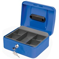 5 Star Cash Box - 8 Inch - Blue