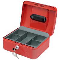 5 Star Cash Box - 8 Inch - Red