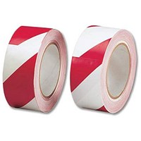 5 Star Hazard Tape Soft PVC Internal Use Adhesive 50mmx33m Red and White