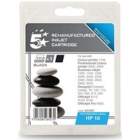 5 Star Compatible - Alternative to HP 10 Black Ink Cartridge