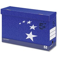 5 Star Transfer Case / Foolscap / Foolscap / Blue / Pack of 10