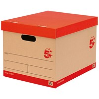 5 Star Storage Boxes, Red & Brown, Pack of 10