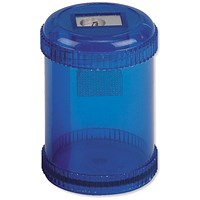 5 Star Pencil Sharpener, Plastic Canister, Maximum Pencil Diameter 8mm, 1 Hole