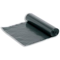 5 Star Bin Liners On The Roll, Medium Duty, 95 Litre, 425x725x840mm, Black, Roll of 20