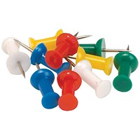 5 Star Push Pins, Assorted Opaque Colours, Pack of 20