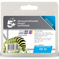 5 Star Compatible - Alternative to HP 22 Colour Ink Cartridge