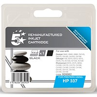 5 Star Compatible - Alternative to HP 337 Black Ink Cartridge