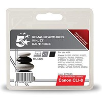5 Star Compatible - Alternative to Canon CLI-8BK Black Inkjet Cartridge