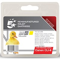 5 Star Compatible - Alternative to Canon CLI-8Y Yellow Inkjet Cartridge