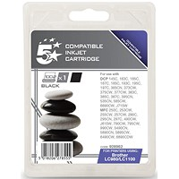 5 Star Compatible - Alternative to Brother LC1100BK Black Inkjet Cartridge