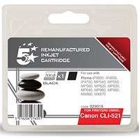 5 Star Compatible - Alternative to Canon CLI-521BK Black Inkjet Cartridge
