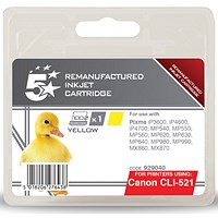 5 Star Compatible - Alternative to Canon CLI-521Y Yellow Inkjet Cartridge