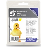 5 Star Compatible - Alternative to Brother LC1100Y Yellow Inkjet Cartridge