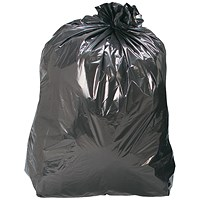 5 Star Recycled Refuse Sacks, Medium Duty, 110 Litre, 460x775x930mm, Black, Box of 200