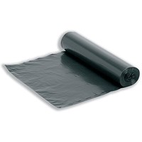 5 Star Bin Bag Roll, Medium Duty, 95 Litre, 370x705x860mm, Black, Box of 300