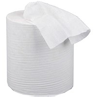 5 Star Mini Dispenser Centrefeed Tissue Refill, 1-Ply, White, 12 Rolls
