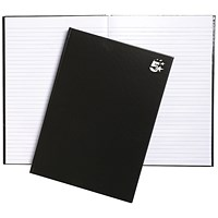 5 Star Hard Cover Casebound Notebook, A4, Ruled, 160 Pages, Pack of 5